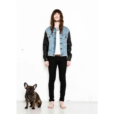 Rivers Edge Vintage Denim & Leather Jacket from Deadwood $295