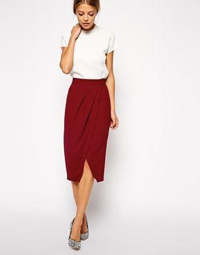 Enlarge ASOS Drape Tulip Pencil Skirt