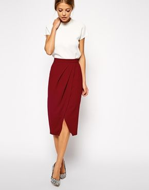 Enlarge ASOS Drape Tulip Pencil Skirt