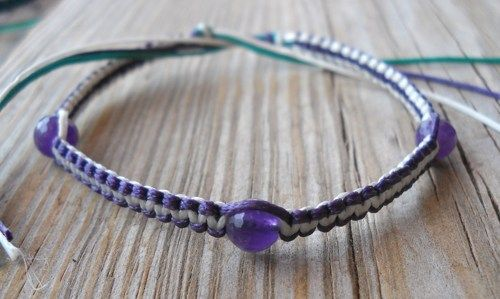 Handmade Free Size Multicolor Wax String Beaded Bracelet or Anklet | pavlos - Jewelry on ArtFire