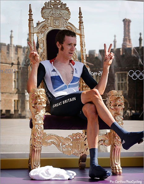 Was there ever really any doubt? via Pez Cycling: Bradley Wiggin, 2012 S Cycling, Olympics Games, London 2012, 2012 Games, 2012S Cycling, Brad Wiggin, Games 2012, 2012 Tours
