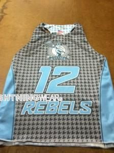 awesome Rebels Lacrosse Pinnies - Rebels Lax Pinnies - Columbia Maryland Lax Pinnies - Sublimated Racerback Pinnies - sublimated racerback reversible jerseys