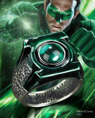 Green Lantern Ring from The Noble Collection. TOTALY AWESOME.