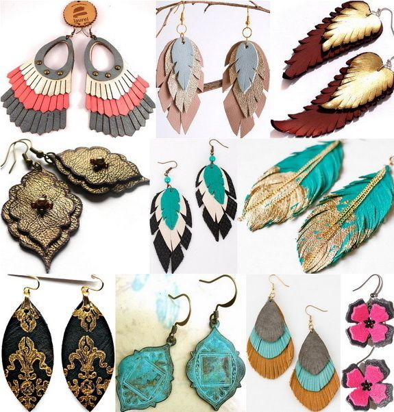 #ideen #leatherjewelry #lederohrringe