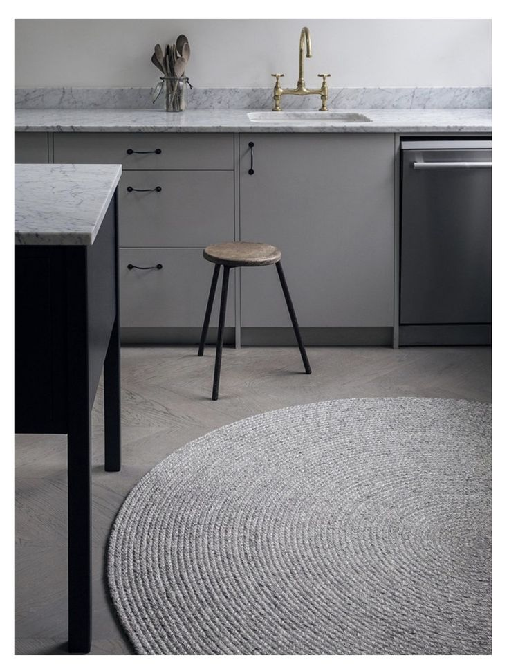 Curious Grace - Pumice Braid, Armadillo Floor Rug hand woven in India from wool and viscose blend