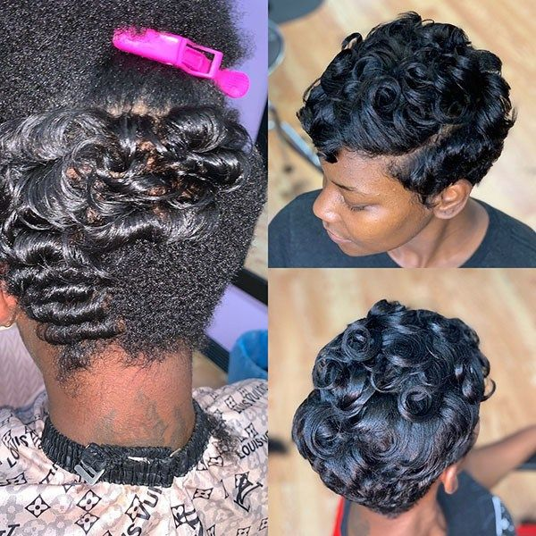 New Best Short Haircuts For Black Women In 2019 Flat Iron Curls
