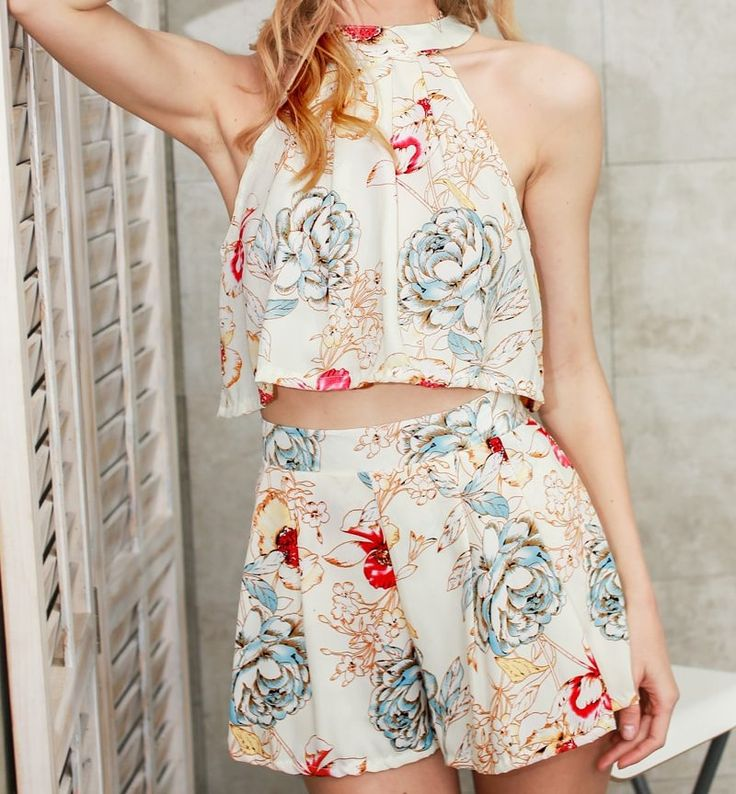 Elegant Summer Flower Print Romper