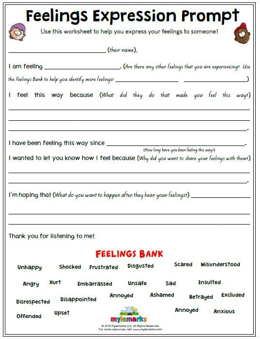 Dealing With Embarrassment Printable Worksheets