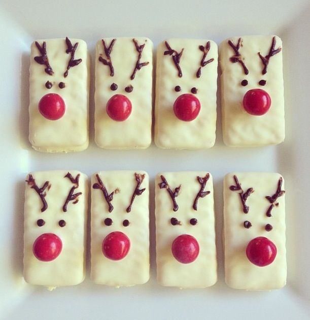 White tim tam reindeers, kids demolished in a second