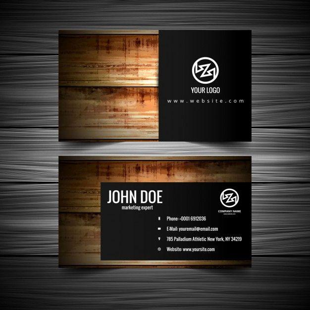Wood Texture Business Card Elegant Wood Textured Visiting Card Vector Visitenkarten Karten Holz Ideen