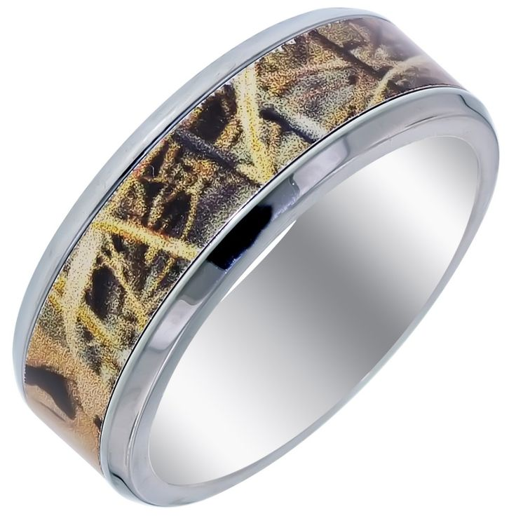 mens camo wedding bands - Camouflage Wedding Rings