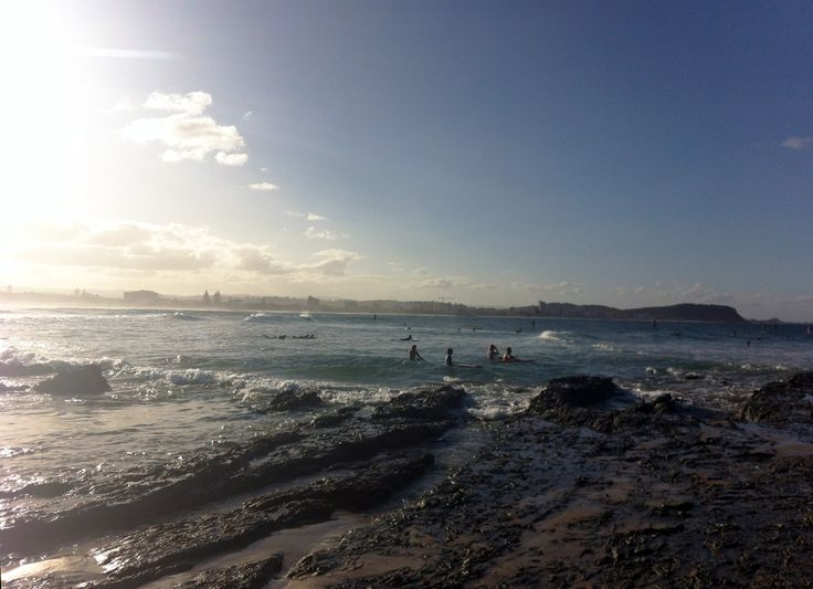 sun setting with the city in the background  Currumbin//Gold Coast
