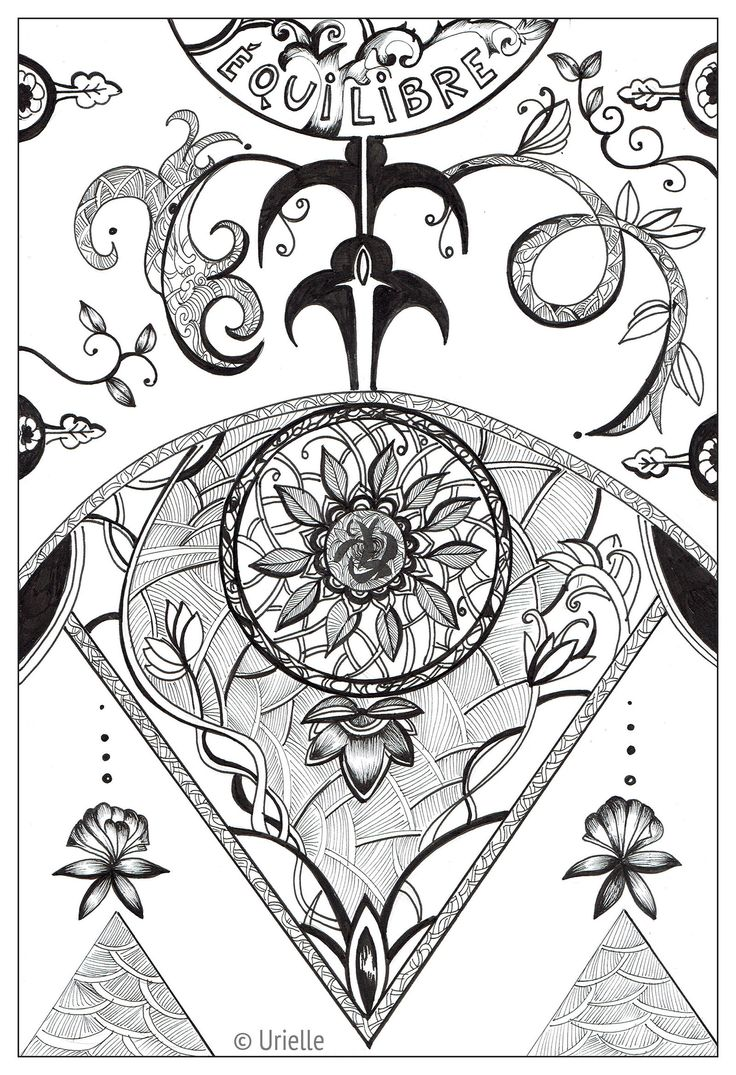 Zen and anti stress coloring pages for adults coloring page love - Zen And Anti Stress Coloring Pages For Adults Coloring Page Adult Urielle Balance Equilibre