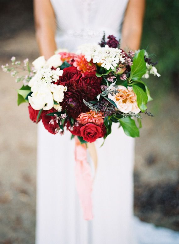Red rose bouquet | Photo by Jen Wojcik Photography