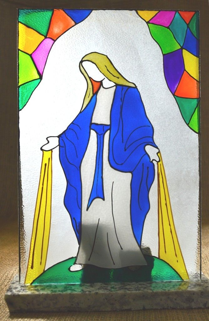 VITRAL MILAGROSA  VITRALES RELIGIOSOS  Falso vitral
