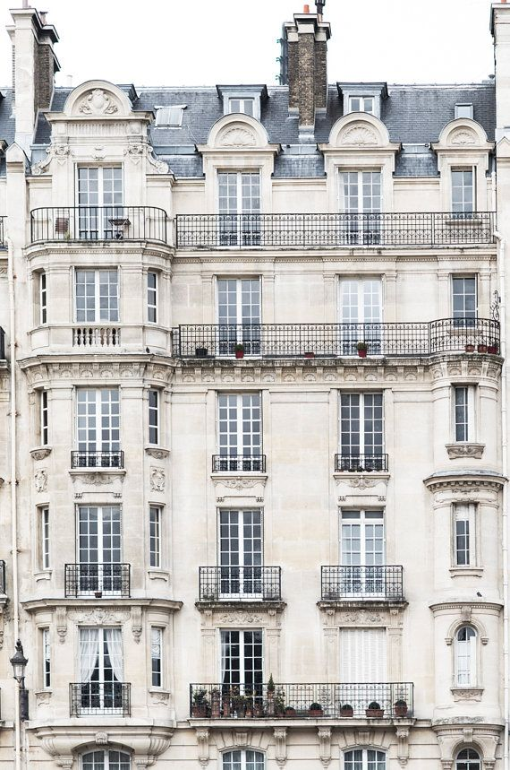 Paris Architekturfoto – The Grand Apartments, Paris Reisefotografie, große Wandkunst, neutrale französische Inneneinrichtungen, Fine Art Foto   – Architektur