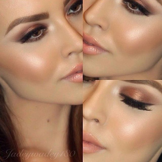 """""""Sombra coral #maquiagem #makeup #make"""", try the peach coral tones instead of the pink blush Duchess"""