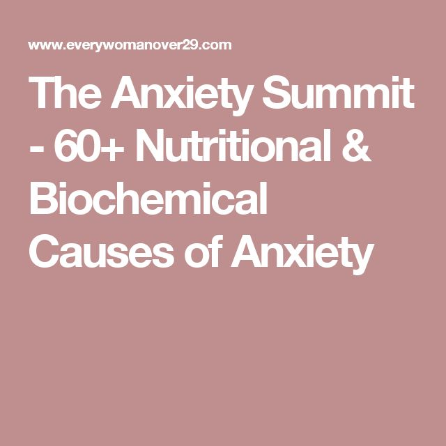 The Anxiety Summit - 60+ Nutritional & Biochemical Causes of Anxiety