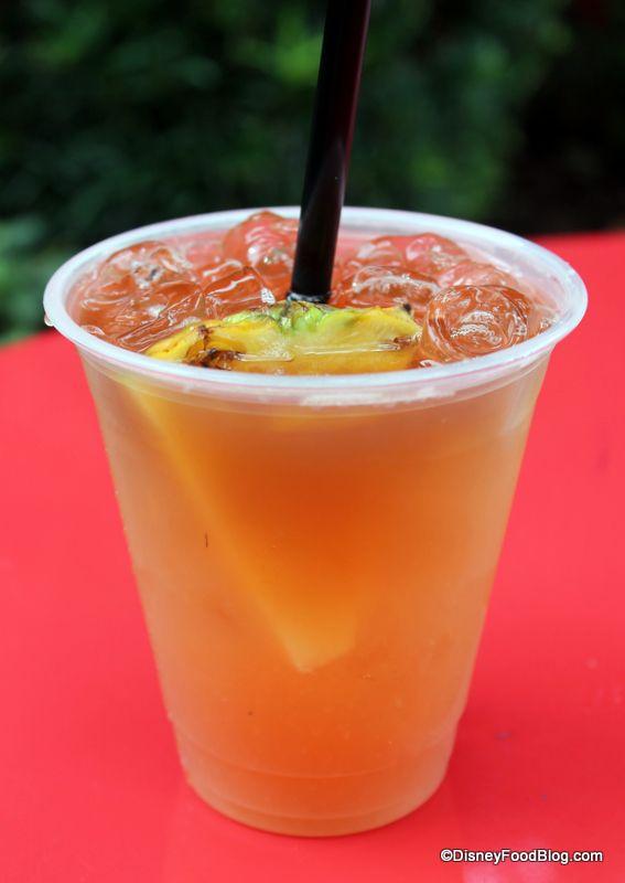 Captain's Mai Tai Recipe:  1 oz. Captain Morgan Spiced Rum,  3/4 oz. Amaretto 4 oz. Pineapple Juice 1/2 oz. Lime juice 1/4 oz. Grenadine 1/4 oz. Float Myers Rum