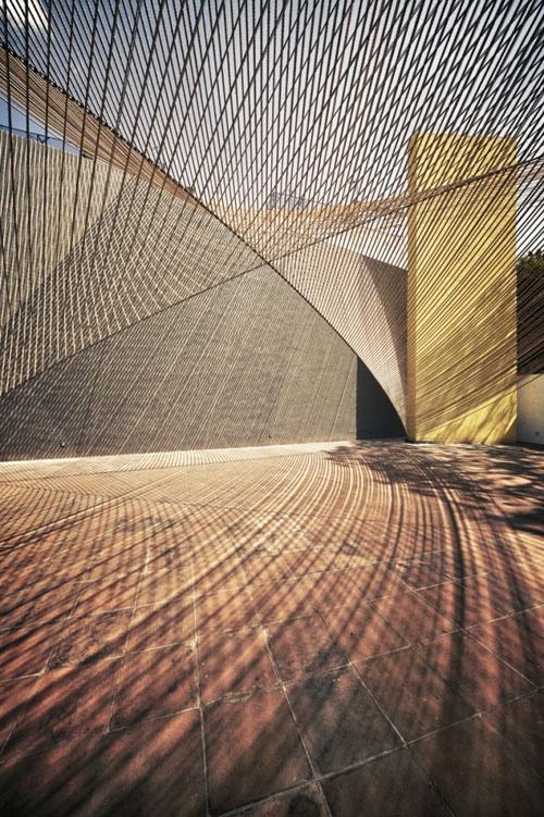 Roped / installation by Estudio MMX for Museo Experimental Eco. photograph by Yoshihiro Koitani via Aubrey Road.