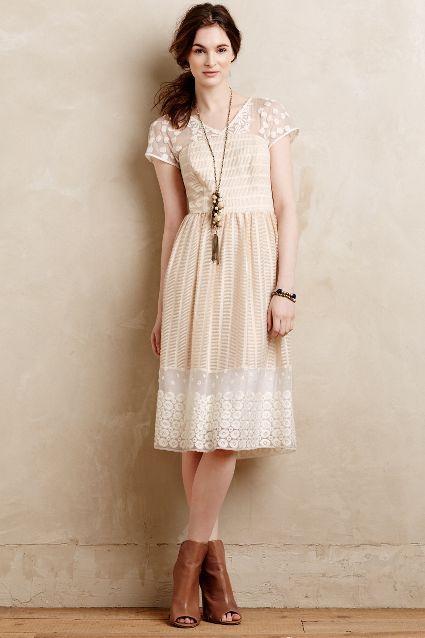 poema lace dress / anthropologie