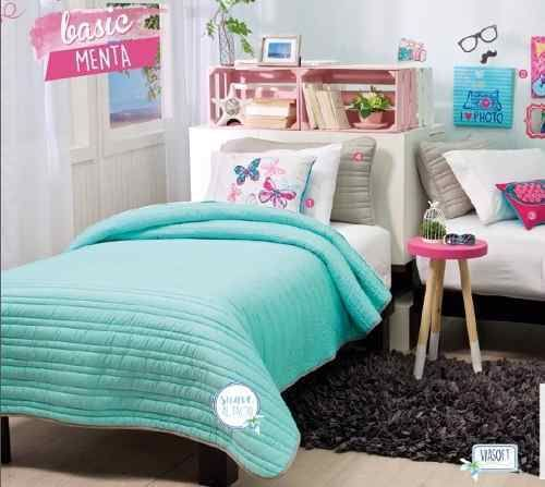 Girls and Teens Twin and Full Basic Mint Comforter Set #VNG