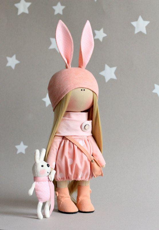 Conejo la muñeca linda muñeca hecha a mano por AnnKirillartPlace
