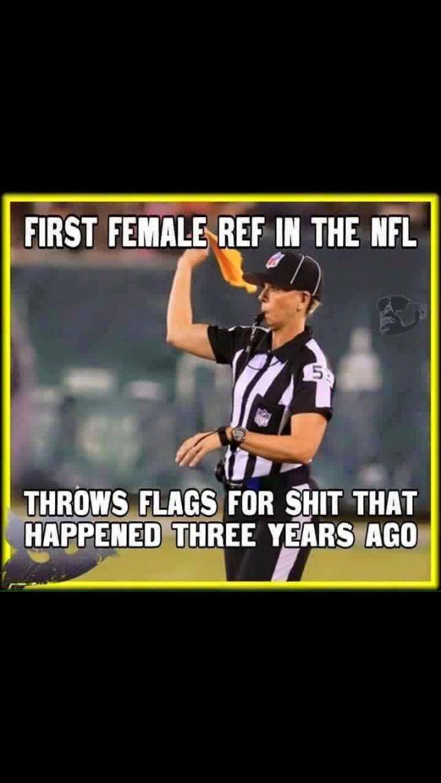 First female ref in the NFL joke