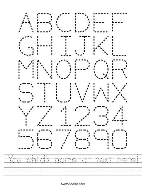 Number names worksheets abc tracing sheet free printable abc tracing worksheet free printable you childs name or text altavistaventures Choice Image