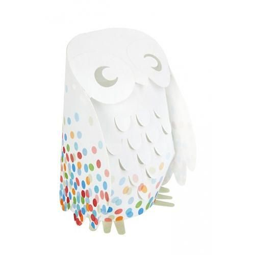 Multi Confetti Owl Low Voltage Lamp designed in Australia by Micky and Stevie, AUD $79.95 online from indie art & design
