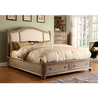 .: Sleigh Beds, Riverside Furniture, Coventry Sleigh, Coventry Upholstered, Bedrooms, Master Bedroom, Weathered Driftwood, Upholstered Sleigh