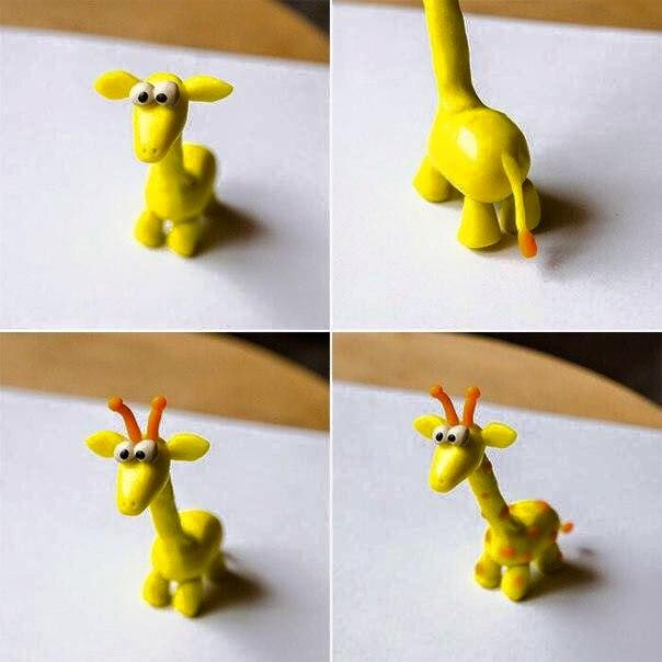 Schöne Tiere aus Knete mit Kinder basteln-dekoking-com-7
