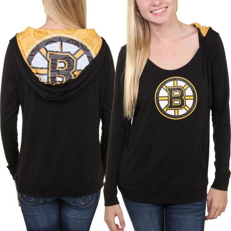 Boston Bruins Women's Sublime Long Sleeve Hooded Sweater - Black