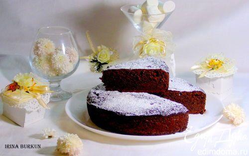 Шоколадный пирог на твороге   Кулинарные рецепты от «Едим дома!»