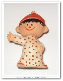 """O """"mascote"""" dos Cobertores Parahyba acabou virando um """"bonequinho"""". Desejo de consumo de muitas criancinhas da época."""