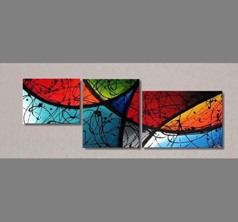 cuadros tripticos abstractos modernos - Buscar con Google