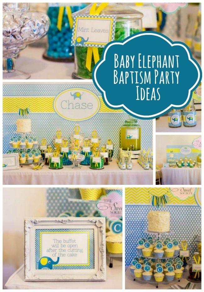 Baby Elephant Baptism Party Ideas