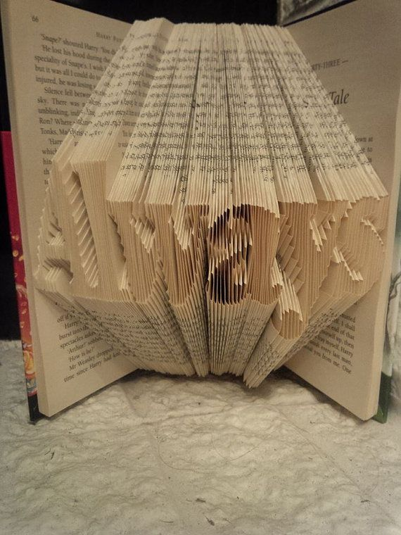 Harry potter valentines book fold. severus snape quote 'always' deathly hallows.