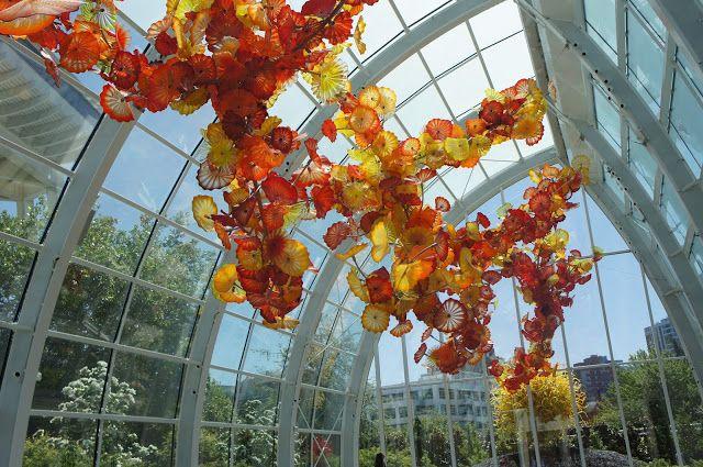 Chihuly exhibit. Space Needle, Seattle, Washington, USA.
