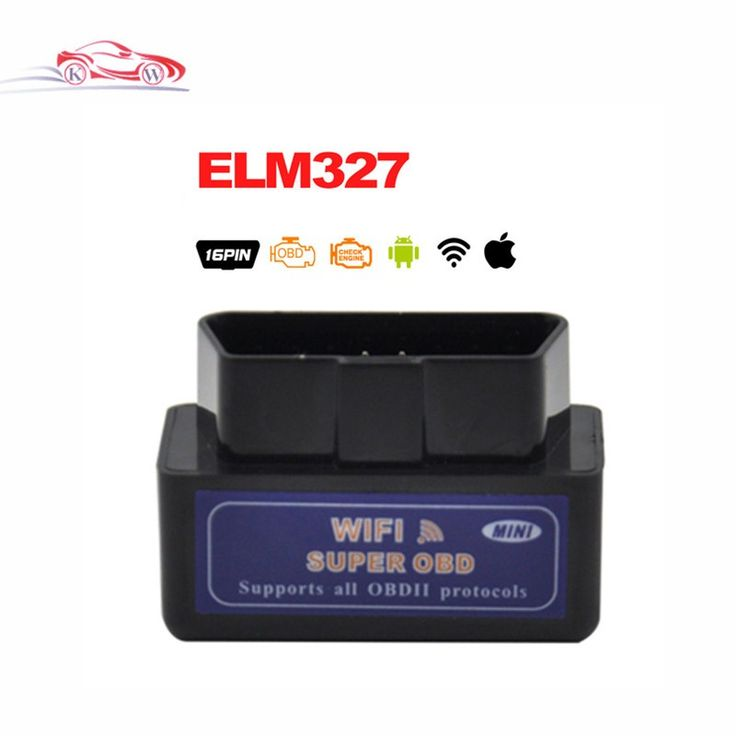 Best quality Black elm327 Wifi Diagnostic Tool mini elm 327 wifi obd2 scanner V1.5 Support Android & IOS System