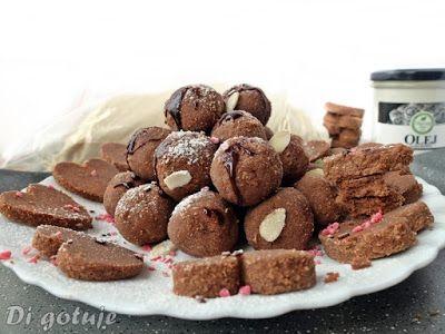 Di gotuje: Kuleczki/ciasteczka czekoladowo-kokosowe bez piecz...