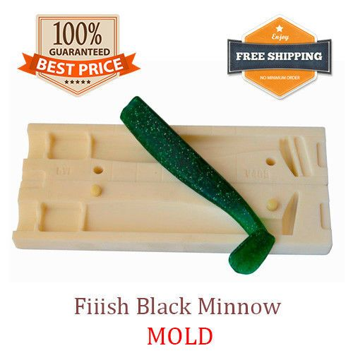 Details about Fiiish Black Minnow Shad Fishing Mold Lure