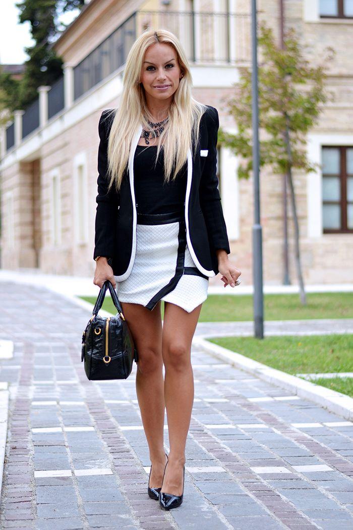 Giacca modello Chanel, giacche nere eleganti, gonna pantaloncino, Miss Coquines shop italia, outfit italian fashion blogger It-Girl by Eleonora Petrella
