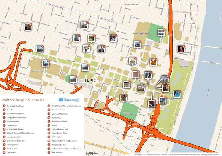 map of attractions in st louis mo | download free tourist guide to st louis