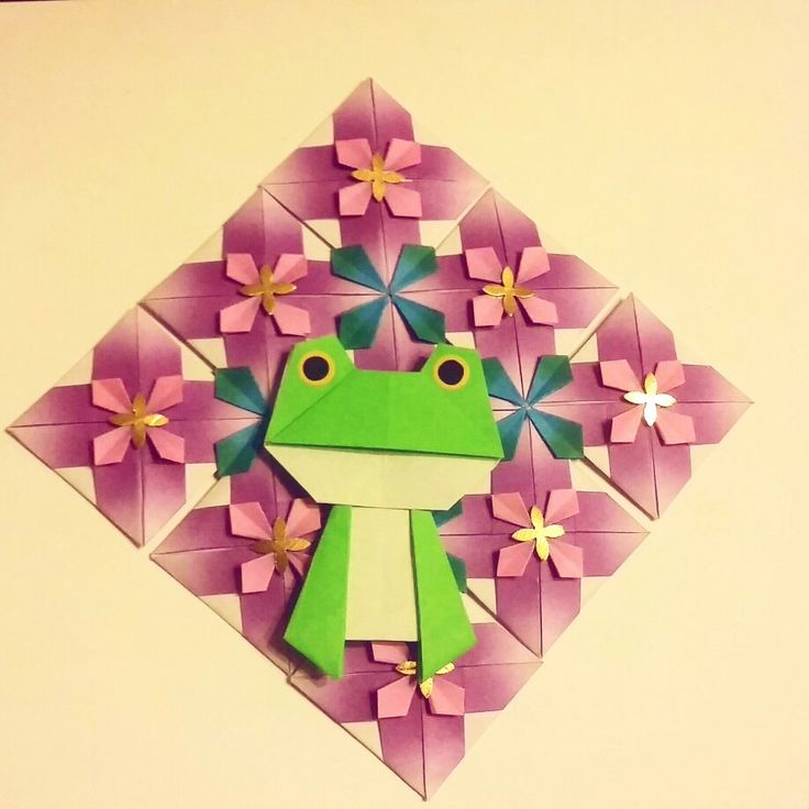 Origami little frog Folded by Majomajo