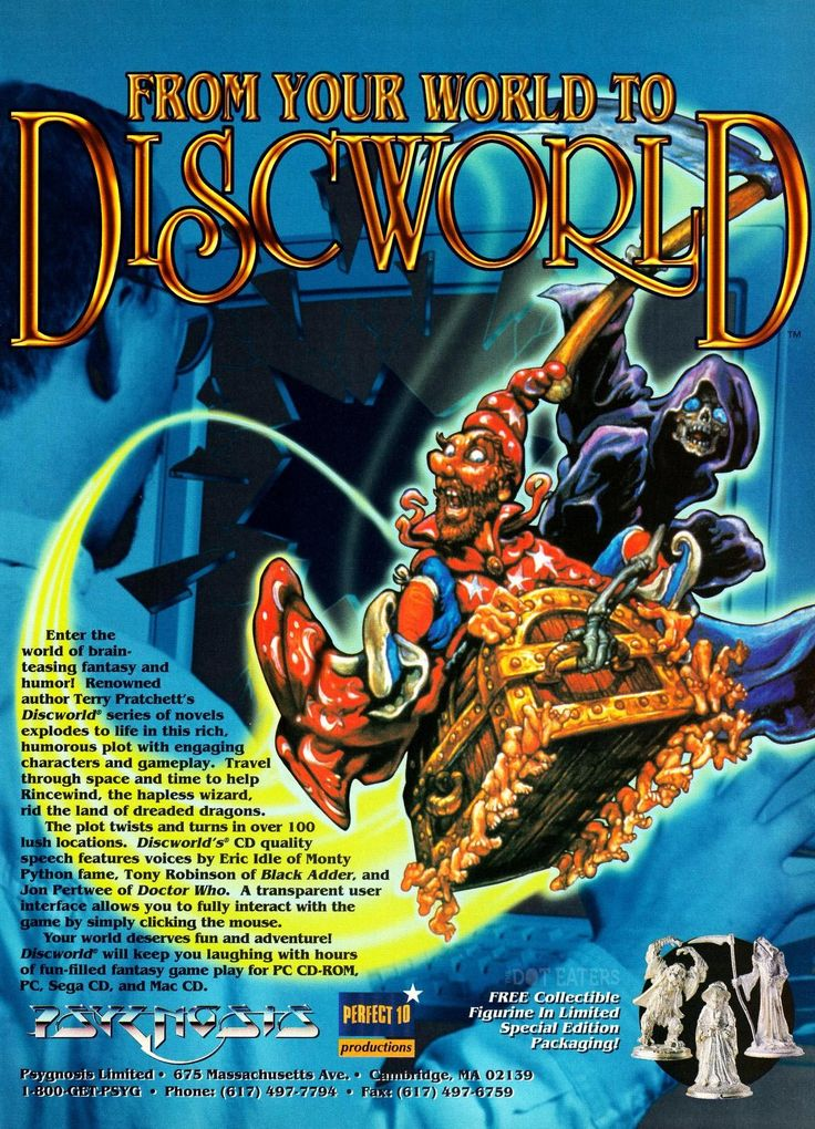 If it's Thursday, it must be #Psygnosis: Rincewind, Death, the Luggage, oh my! The wild world of @terryandrob travels to your PC. (1995) #Discworld #bitstory
