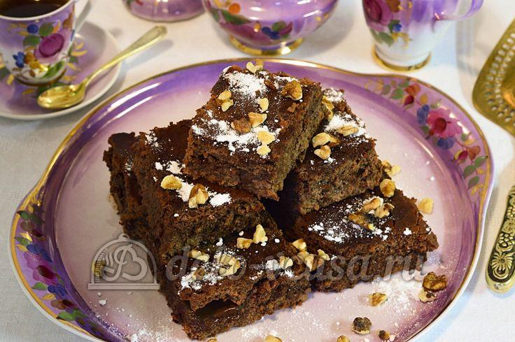Влажный шоколадный пирог #шоколад #пирог #еда #рецепты #деловкуса #готовимсделовкуса