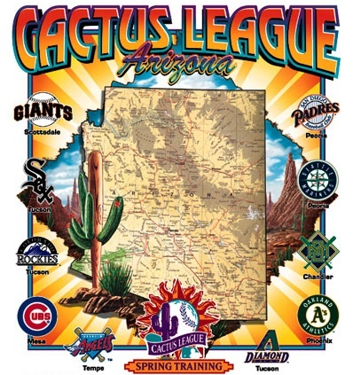 Go to baseball spring training in Arizona. Go Cactus League