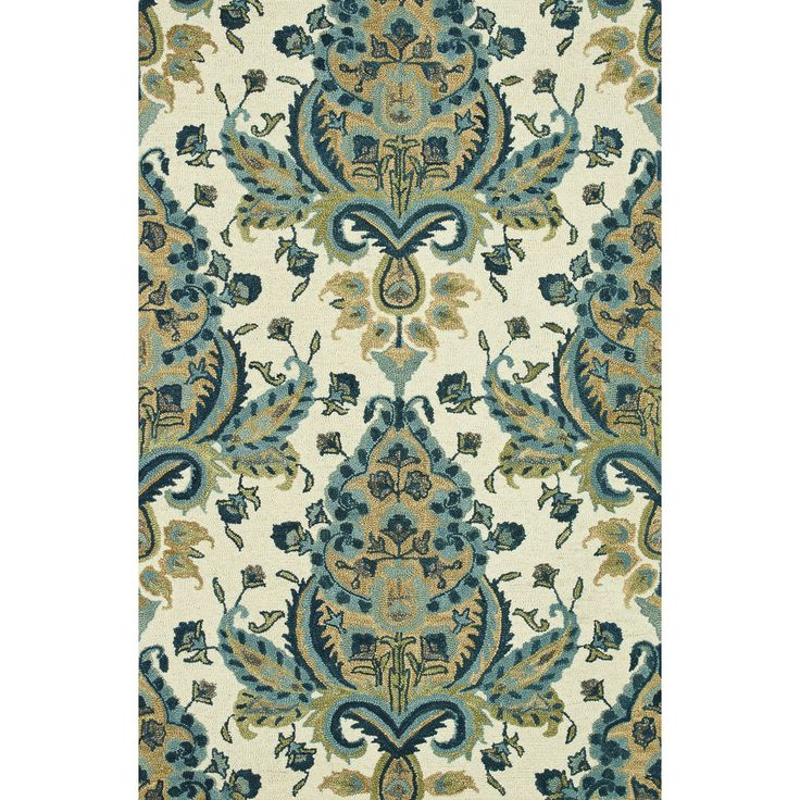 Hand Tufted Meadow Blue/ Gold Wool Rug (5u00270 X 7u0027