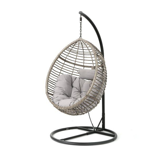 350 Weller Outdoor Wicker Basket Swing Chair With Stand Swinging Chair Hanging Chair Basket Chair